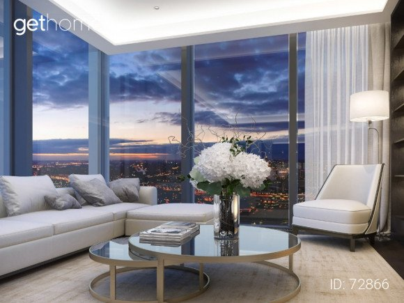 Продажа апартаментов площадью 94 м² в ЖК NEVA TOWERS. Гостиная